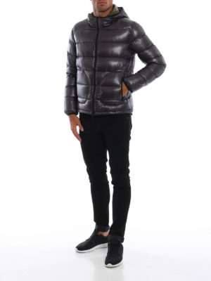 HERNO: giacche imbottite online - Piumino double grigio metal e verde