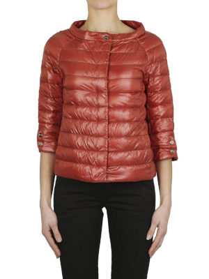 HERNO: giacche imbottite online - Piumino nylon ultraleggero arancio
