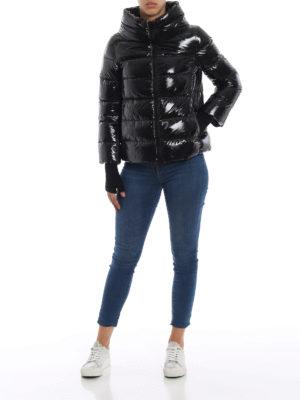 HERNO: giacche imbottite online - Piumino nero in nylon lucido