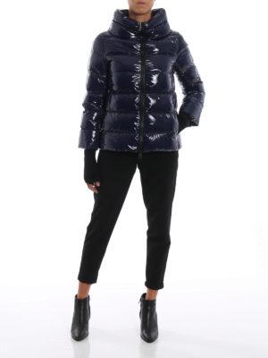 HERNO: giacche imbottite online - Piumino blu in nylon lucido