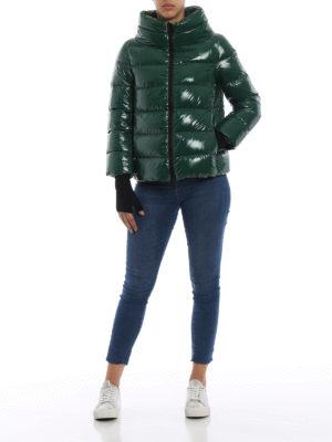 HERNO: giacche imbottite online - Piumino verde in nylon lucido