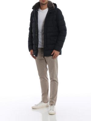 HERNO: giacche imbottite online - Piumino Polar Tech con pelliccia