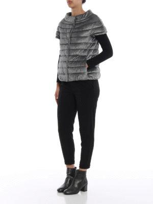 HERNO: giacche imbottite online - Piumino a maniche corte in ciniglia