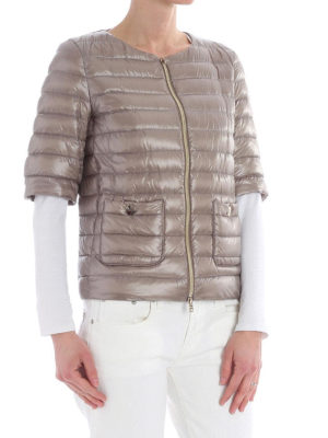 HERNO: giacche imbottite online - Piumino leggero a maniche corte