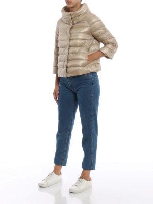 HERNO: giacche imbottite online - Piumino Sofia in nylon beige