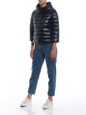 HERNO: giacche imbottite online - Piumino Sofia in nylon blu