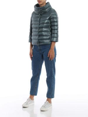 HERNO: giacche imbottite online - Piumino Sofia in nylon verde