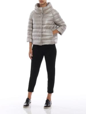 HERNO: giacche imbottite online - Piumino trapuntato Sofia in nylon grigio
