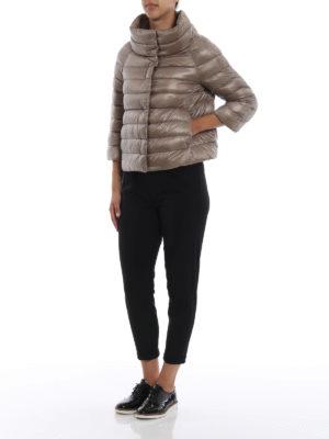 HERNO: giacche imbottite online - Piumino Sofia in nylon grigio perla