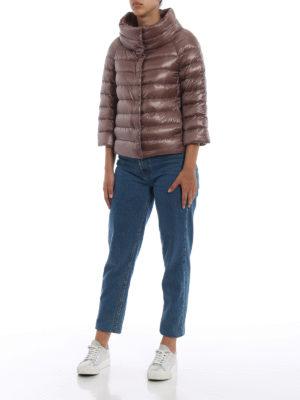 HERNO: giacche imbottite online - Piumino Sofia in nylon marrone rosato