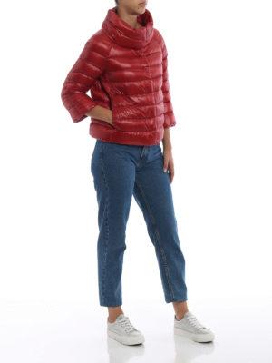 HERNO: giacche imbottite online - Piumino Sofia in nylon rosso