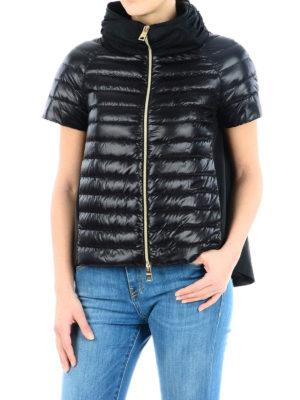 HERNO: giacche imbottite online - Piumino con parte dietro in taffetà