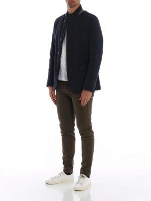 HERNO: giacche imbottite online - Blazer imbottito in lana idrorepellente