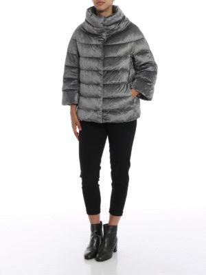 HERNO: giacche imbottite online - Cappa ciniglia resistente all'acqua