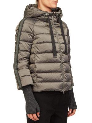 HERNO: giacche imbottite online - Piumino con bande lurex in raso tecnico