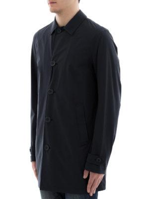 HERNO: cappotti corti online - Cappottino in nylon blu scuro