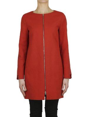 HERNO: cappotti corti online - Cappotto in cotone con gros grain