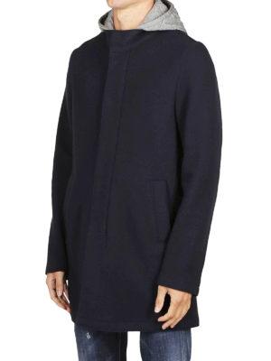 HERNO: cappotti corti online - Cappotto corto con cappuccio staccabile