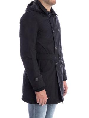 HERNO: cappotti trench online - Trench classico con cappuccio e cintura