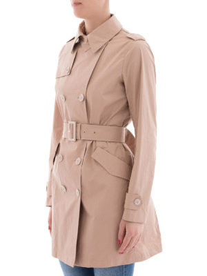 HERNO: cappotti trench online - Trench in cotone color carne