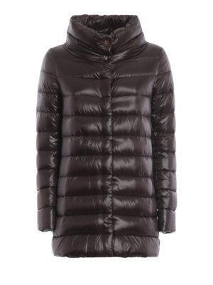 HERNO: cappotti imbottiti - Piumino Amelia ultraleggero color cioccolato
