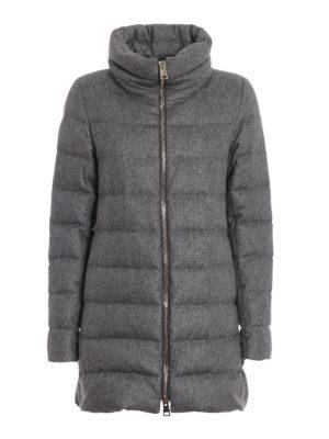 HERNO: cappotti imbottiti - Piumino in cashmere e seta antigoccia