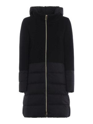 HERNO: cappotti imbottiti - Cappotto nero Revival in lana e nylon