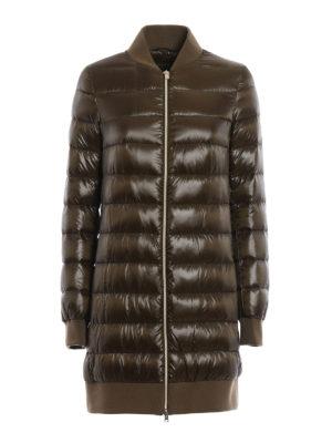 Herno: padded coats - Bomber collar nylon padded coat
