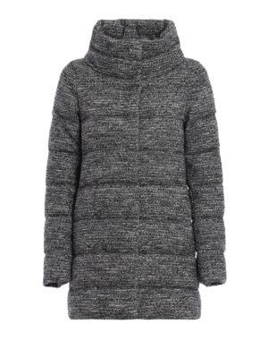 Herno: padded coats - Bouclé wool blend padded short coat