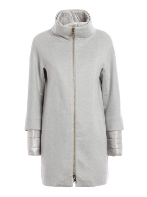 Herno: padded coats - Cashmere coat with double front