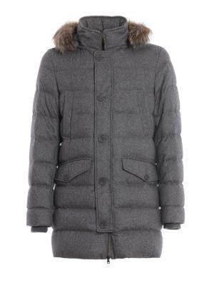 HERNO: cappotti imbottiti - Piumino in cashmere seta con cappuccio