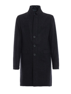 HERNO: cappotti imbottiti - Cappotto imbottito corto in lana a quadri
