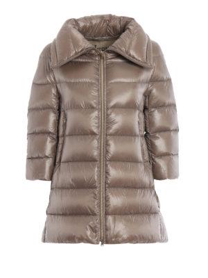 HERNO: cappotti imbottiti - Piumino Cleofe in nylon tortora chiaro