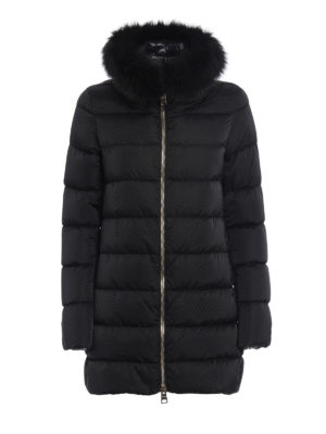 Herno: padded coats - Detachable fur collar padded coat