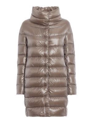 HERNO: cappotti imbottiti - Piumino Dora ultraleggero tortora chiaro