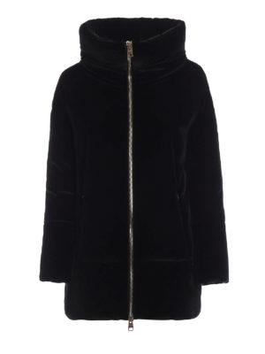 HERNO: cappotti imbottiti - Piumino in velluto con collo a cratere