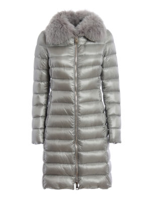 Herno: padded coats - Fur collar padded  coat
