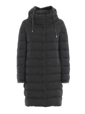 HERNO: cappotti imbottiti - Piumino in tessuto lurex grigio trapuntato