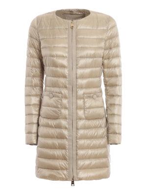 HERNO  cappotti imbottiti - Piumino lungo girocollo color sabbia bb842a9f7de