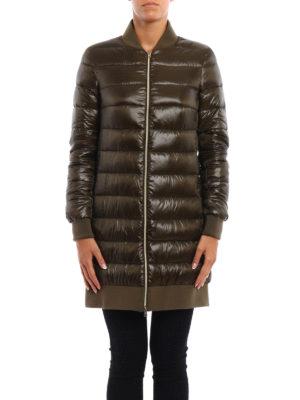 Herno: padded coats online - Bomber collar nylon padded coat
