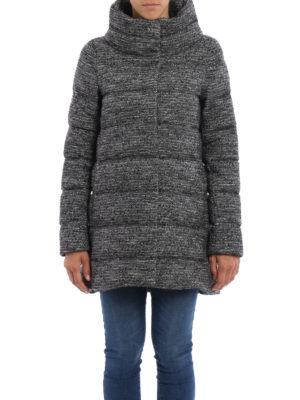 Herno: padded coats online - Bouclé wool blend padded short coat
