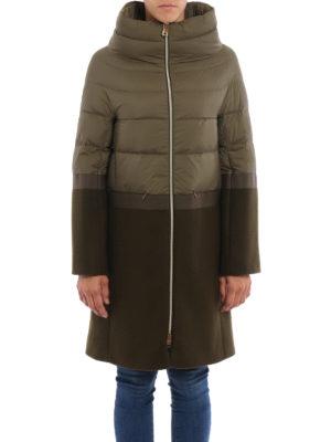 Herno: padded coats online - Combo padded coat