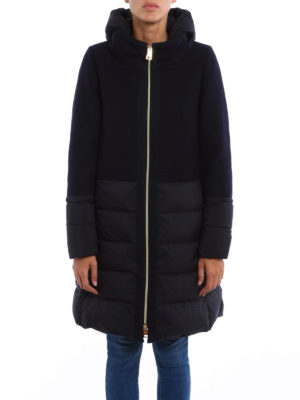 Herno: padded coats online - Combo padded coat