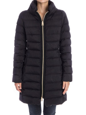 Herno: padded coats online - Full zip fitted puffer coat