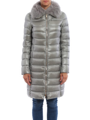 Herno: padded coats online - Fur collar padded  coat