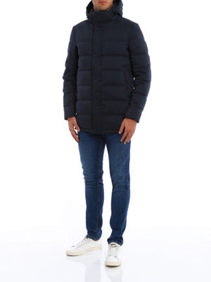 Herno: padded coats online - Hooded padded coat