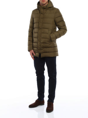 Herno: padded coats online - Hooded short padded coat
