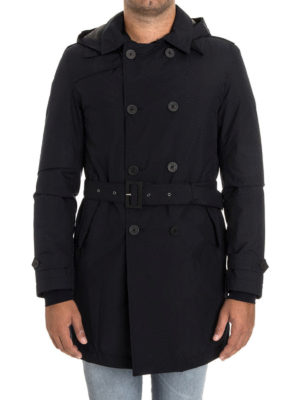 Herno: padded coats online - Padded double-breasted trench coat
