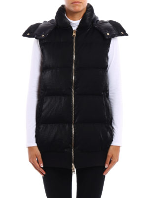 Herno: padded coats online - Quilted and padded long vest