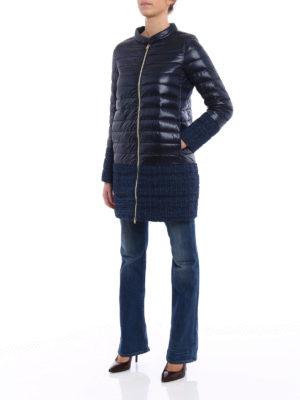 Herno: padded coats online - Shimmering combo short puffer coat